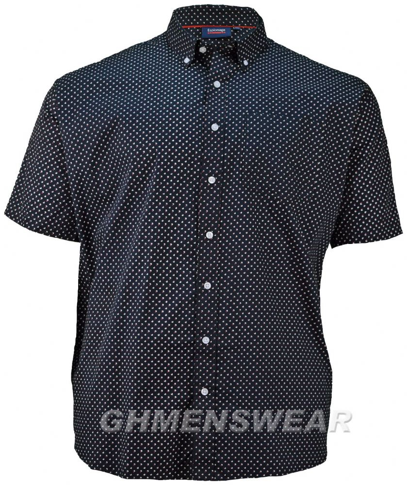 ESPIONAGE GEOMETRIC PATTERN PRINT SHIRT
